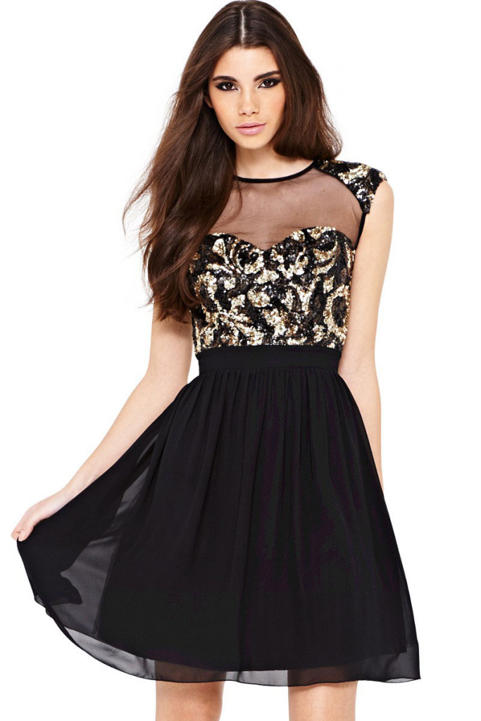 Sexy-Paisley-Sequin-Skater-Dress-LC21045