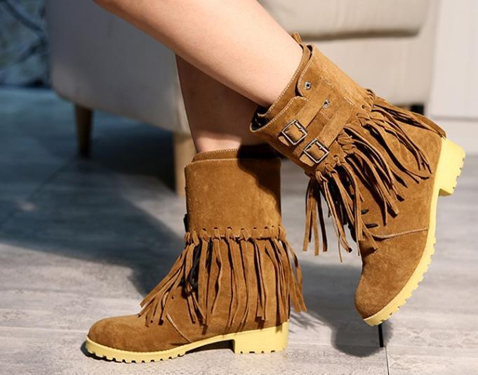 Women-s-Fringe-Tassels-Flat-Heel-Boots-Decoration-Mid-Calf-Slouch-Shoe-Plus-Sizes-winter-Shoes
