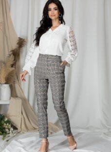 Pantaloni Callie conici in carouri